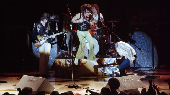 Mick Taylor, from left, Mick Jagger, Charlie Watts and Keith Richards perform at San Francisco