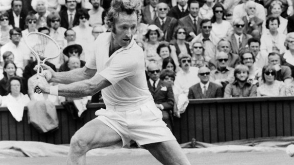 Australian legend Rod Laver, four times a Wimbledon champion during the 1960s, played serve and volley better than anyone in an era where the technique was more common.