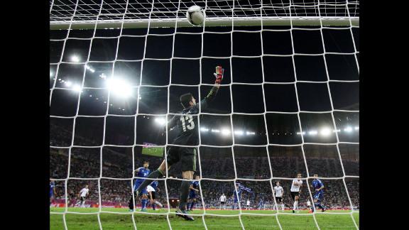 Sami Khedira of Germany scores the team
