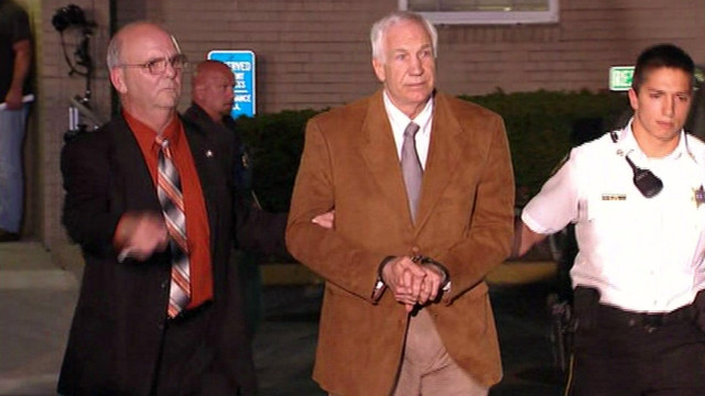 Watch Sandusky be lead out of court