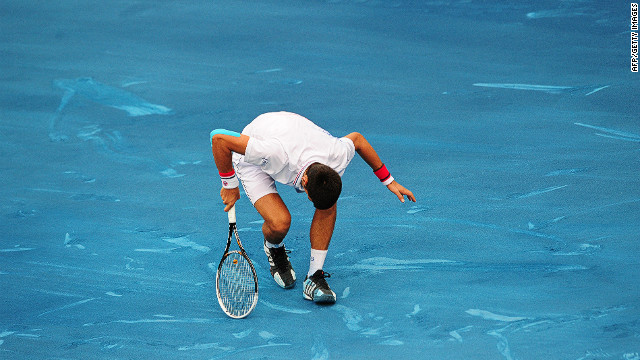 Novak Djokovic was all at sea on the blue clay during the Madrid Masters in May