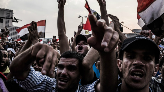 Protesters demonstrate against Egypt