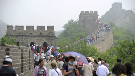 Tourism is big business in China. The Great Wall is the world