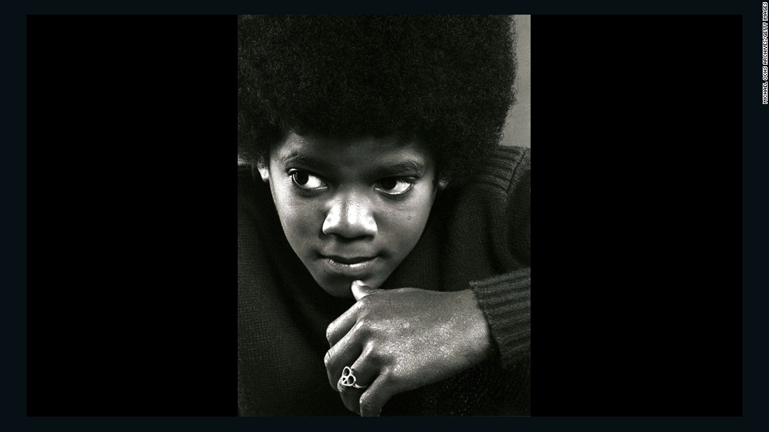 Michael Jackson poses during a portrait session in Los Angeles in 1971.
