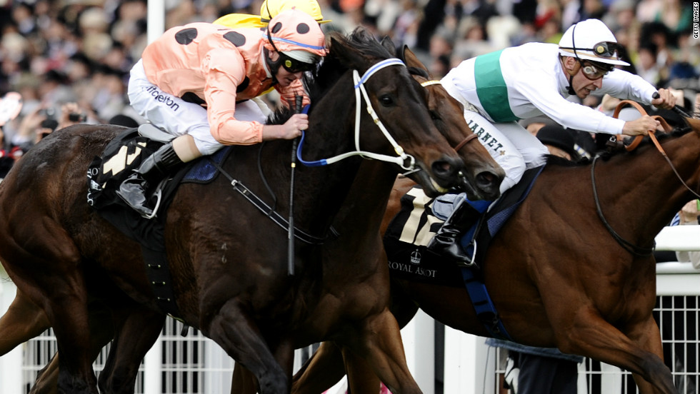 "Australian ""supermare"" Black Caviar made it 22 wins from 22 races at Royal Ascot on Saturday, but only just. It took a photo finish to seperate Black Caviar and second-placed horse Moonlight Cloud."