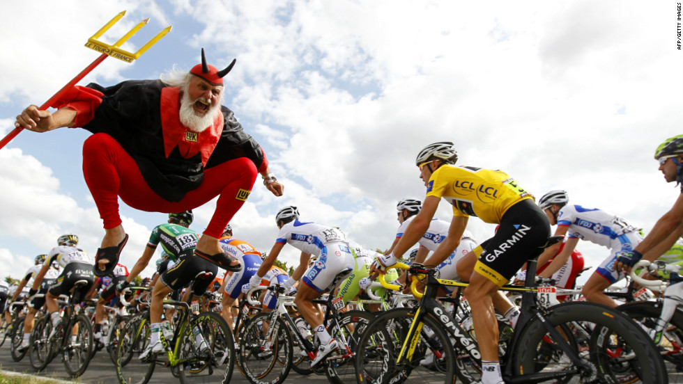 "The Tour would not be the Tour without the appearance of an eccentric German fan nicknamed ""The Devil"" who crops up on many stages."