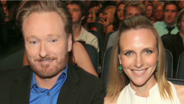 Conan fell for wife on camera