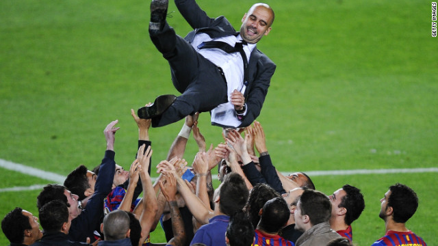 Guardiola won 14 trophies from a possible 19 in his four years as Barcelona coach