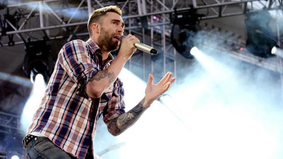Adam Levine of Maroon 5 performs at 102.7 KIIS FM
