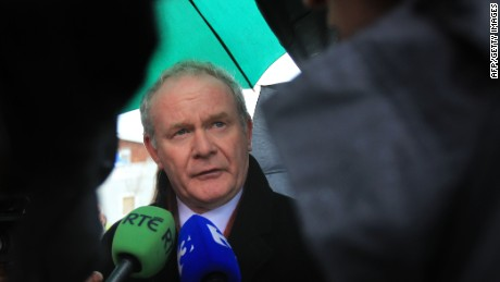 Martin McGuinness, once a commander in the Irish Republican Army, is now Northern Ireland's deputy first minister.