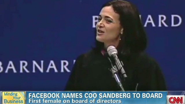 Sandberg named to Facebook board