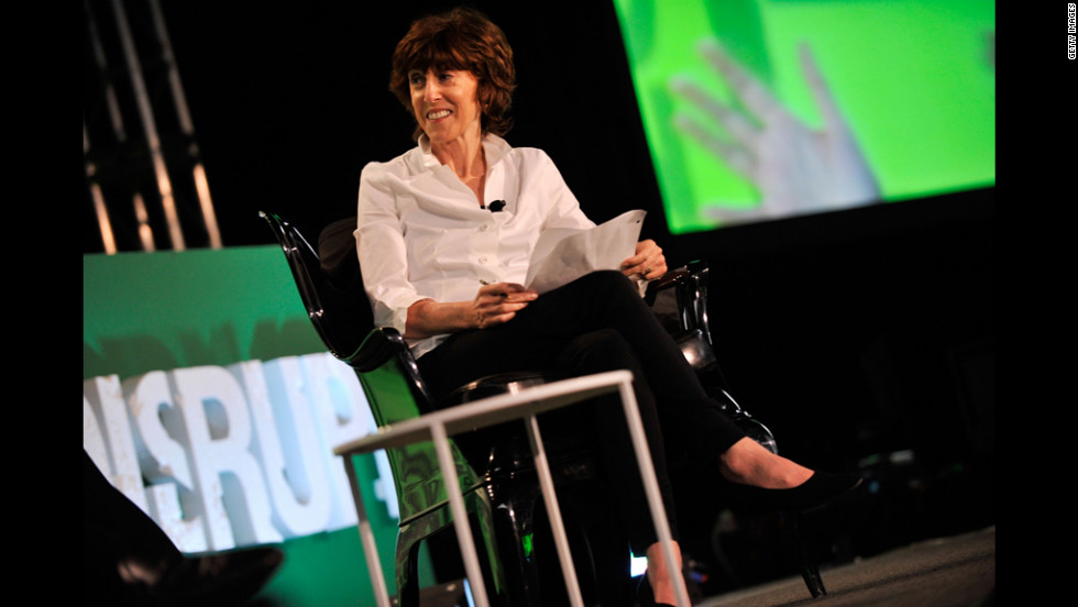 Ephron makes an appearance at a TechCrunch Disrupt event in New York on May 23, 2011.