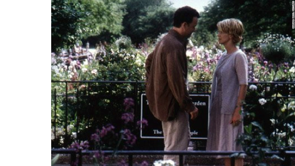 "Kathleen Kelly (Meg Ryan) and Joe Fox (Tom Hanks) are competing bookstore owners who unknowingly engage in a virtual relationship as ""Shopgirl"" and ""NY152,"" respectively."