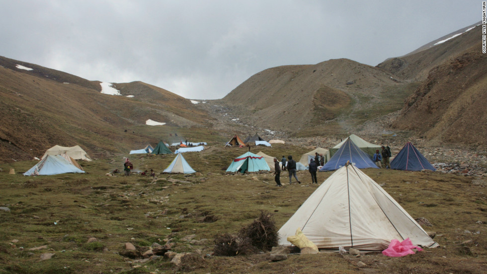 A harvesters' camp in Dolpa, at 4,300 meters elevation.