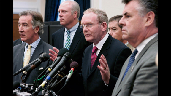 Sinn Fein chief negotiator Martin McGuinness announces that the IRA will end its armed campaign but will not disband in July 2005.