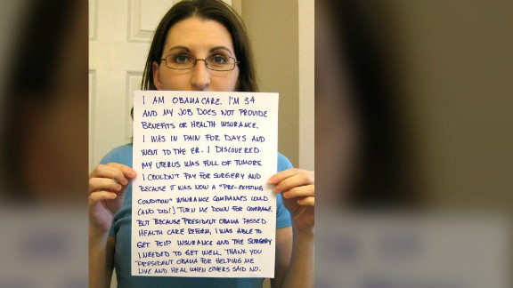 M. Turner snapped this self-portrait that went viral in the debate over President Obama's Affordable Health Care Act.