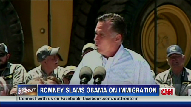 Romney hammers Obama on immigration