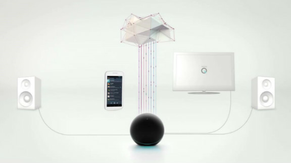 """Google bills the globe-like Nexus Q device as """"the first social streaming player."""""""