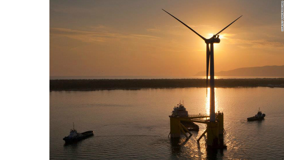 The turbine cost $20 million to manufacture and can produce enough electricity to power 1,300 homes.