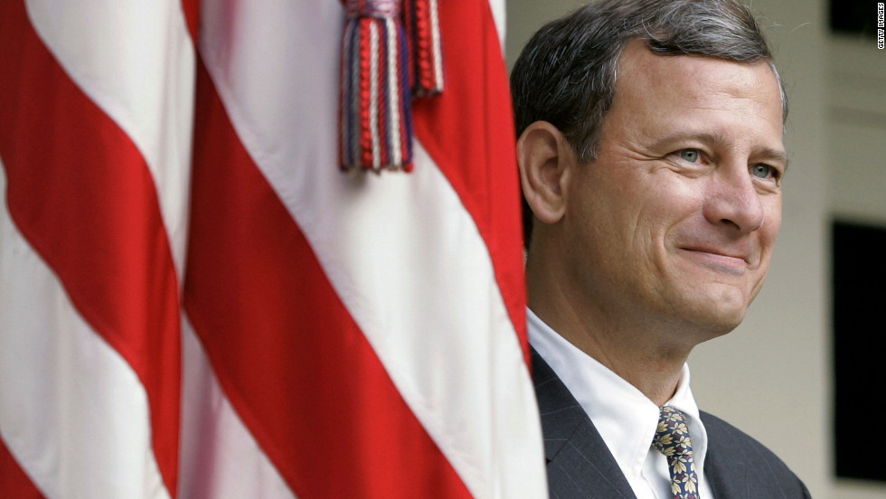 Chief Justice John Roberts, a conservative appointed by President George W. Bush, sided with the Supreme Court's liberal wing on June 28 in upholding the controversial health care reform law. Roberts is seen here in 2005.