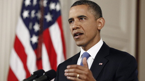 President Barack Obama reacts Thursday at the White House following the Supreme Court's health care ruling.