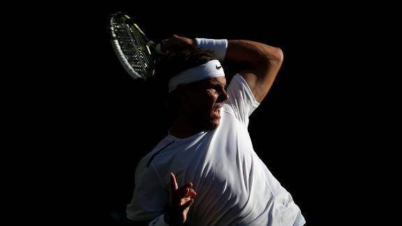 Rafael Nadal of Spain during his men