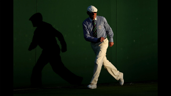 A general view of a line judge on day four of  Wimbledon June 28.