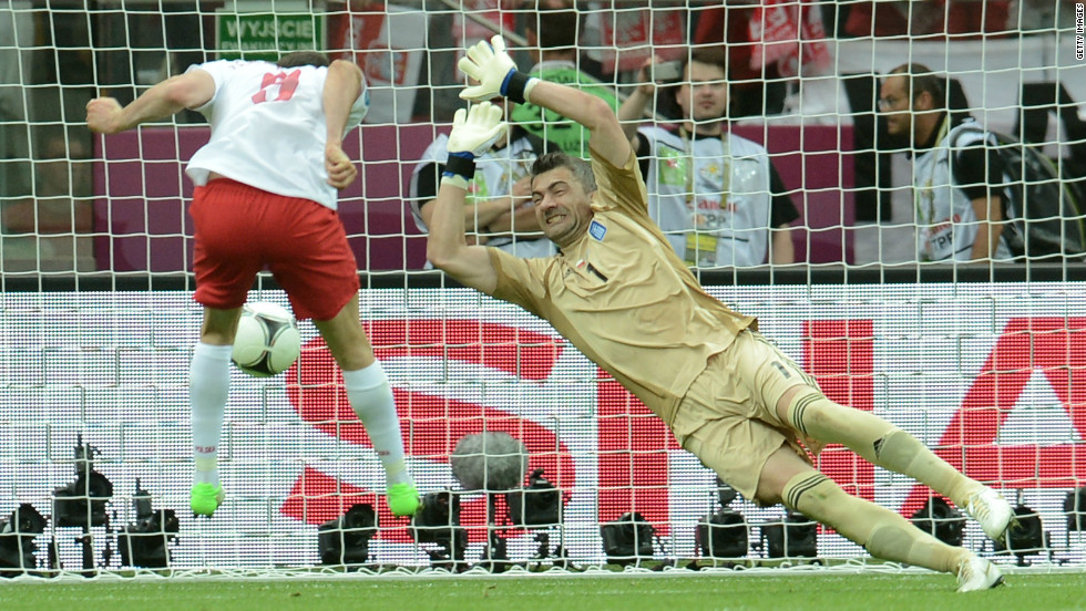 Euro 2012 sparked into life when striker Robert Lewandowski scored the first goal of the tournament against Greece. Despite a lively opening, the co-hosts had to settle for a 1-1 draw.