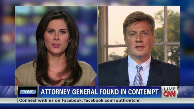 Attorney General Holder held in contempt
