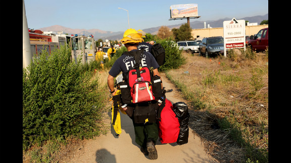 Firefighters get ready to tackle the Waldo Canyon Fire on Friday.