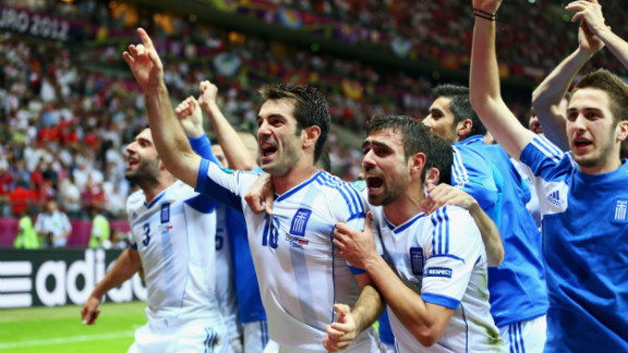 Russia were also condemned to an early exit after 2004 champions Greece stunned Dick Advocaat