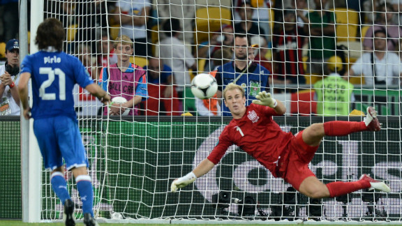 Andrea Pirlo was the coolest man in Kyiv as he chipped in this effort in a shootout against England. Italy advanced as Ashley Cole missed and Alessandro Diamanti fired in the decisive spot kick.