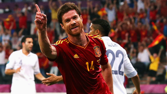 Xabi Alonso scored both of Spain