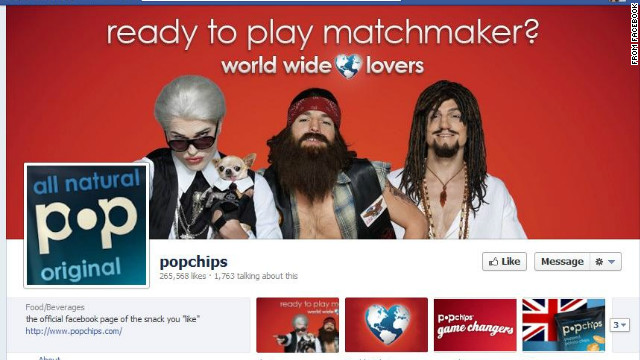 "Popchips' Facebook page had featured the video campaign with Ashton Kutcher but not ""Raj."""
