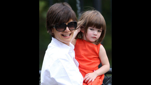 Katie Holmes and Suri Cruise spend time together on the streets of Manhattan in New York City on August 17, 2008.