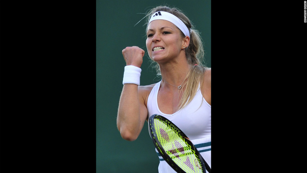 Maria Kirilenko celebrates her third-round singles victory over Sorana Cristea on Friday.