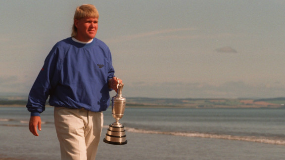"""Winners do not come much more unlikely than John Daly at the 1995 British Open. A recovering alcoholic, Daly was 66-1 to win at St. Andrews, the Scottish course known as """"the home of golf."""" The American emerged victorious from a four-hole playoff with Italian Costantino Rocca to clinch his second major triumph."""
