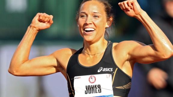 U.S. track and field star Lolo Jones.