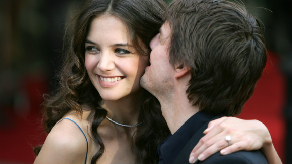 """In June 2005, actress Katie Holmes flashed her engagement ring at the London premiere of """"War of the Worlds."""""""