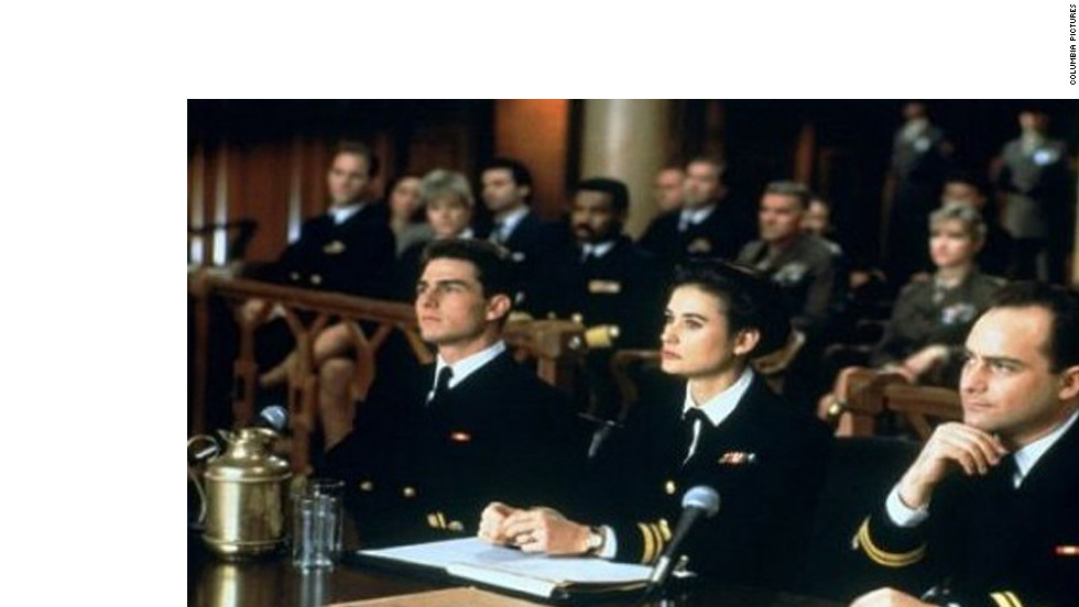 "Jack Nicholson's Col. Nathan R. Jessup told Cruise's Lt. Daniel Kaffee, ""You can't handle the truth!"" in 1992's ""A Few Good Men."" The film was nominated for four Academy Awards."