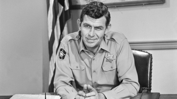 Actor Andy Griffith, who played folksy Sheriff Andy Taylor in the fictional town of Mayberry, died July 3 at the age of 86.