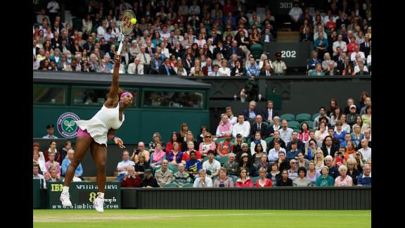 Williams serves during her Ladies