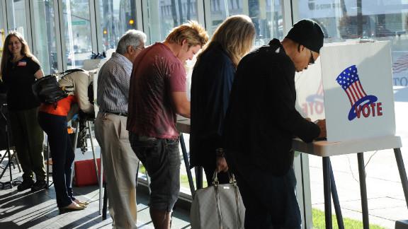 Voters in Beverly Hills, California, in November 2010.