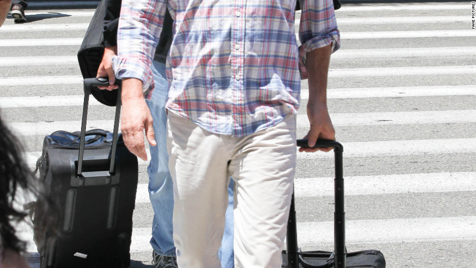 Kevin Costner arrives in Los Angeles.