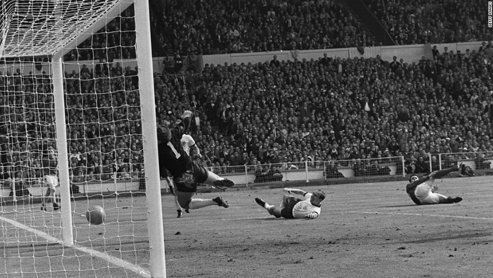 Deciding whether or not a shot has crossed the line has long been an issue in football. Arguably the most famous incident was in the 1966 World Cup final, when England's Geoff Hurst saw his shot in extra-time bounce down off the underside of the West Germany crossbar. A goal was awarded, giving England a 3-2 lead, with the hosts going on to win the match 4-2.