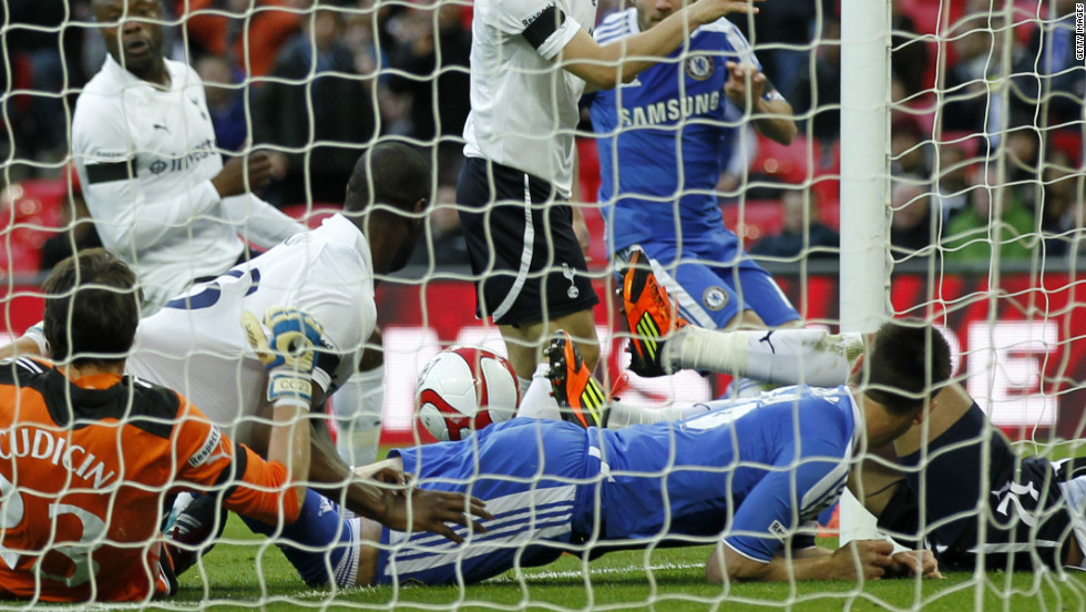Two months earlier Terry had been involved in another goal-line incident, this time for club team Chelsea. In an FA Cup semifinal with Tottenham Hotspur, Chelsea's Juan Mata hit a shot which was inadvertently blocked by Terry, but a goal was given and Chelsea won 5-1.