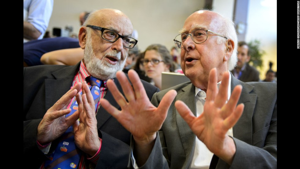 "François Englert, left and colleague Peter Higgs received the 2013 <a href=""http://www.cnn.com/2013/10/08/world/europe/sweden-nobel-prize-physics/index.html"" target=""_blank"">Nobel Prize in physics</a> for their research on a mechanism that explains why matter in the universe has mass. The physicists predicted the existence of the <a href=""http://www.cnn.com/2011/12/13/world/europe/higgs-boson-q-and-a/index.html"">Higgs boson particle</a> nearly 50 years before its discovery."