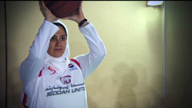 Women's basketball in Saudi Arabia.