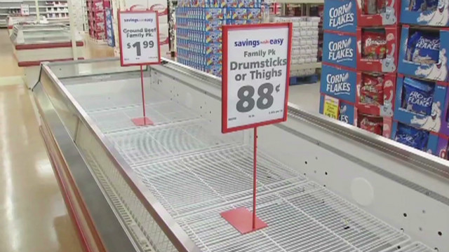 Food runs low after devastating storms