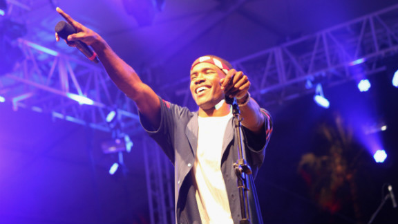 Frank Ocean performs at the 2012 Coachella Valley Music & Arts Festival at The Empire Polo in Indio, California.